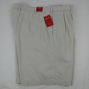 Izod Luxury Sport Pleated Shorts